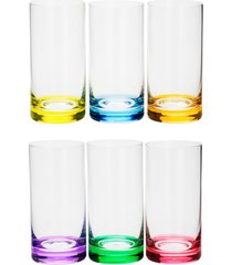 conjunto rojemac 6 copos altos de cristal ecolã³gico long drink set-bar favorit colorido - multicolorido - dafiti