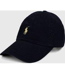 gorra azul navy-amarillo polo ralph lauren