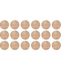 protetor adesivo para móveis bemfixa, feltro redondo, 20 mm, 18 peças