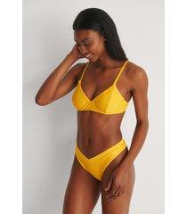 marije zuurveld x na-kd strukturerad bikiniunderdel - yellow