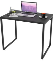 mesa de escritã³rio office 90cm estilo industrial prisma preto onix - mpozenato - preto - dafiti