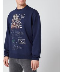 coach men's basquiat sweatshirt - blue - xl