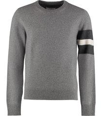 maison margiela wool-cashmere blend crewneck pullover