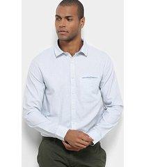 camisa manga longa jab cross lines masculina