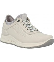 zapatilla cuero air lycra lace up beige hush puppies