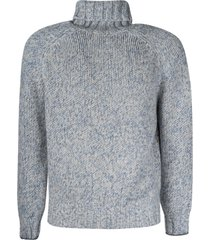 brunello cucinelli high-neck ribbed woven sweater