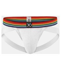 cueca slip jock dionisio collection pride/branco