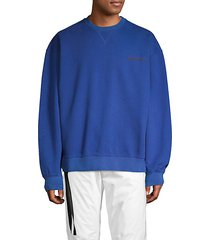 cotton terry crewneck sweatshirt