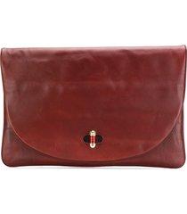 tommy hilfiger oversized clutch bag - brown