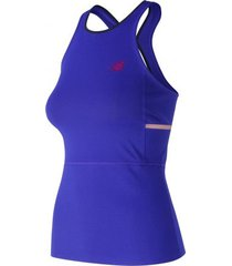 new balance tanktop new balance women wt91435 uv blue-xs