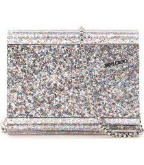 jimmy choo multicolor glitter acrylic candy clutch