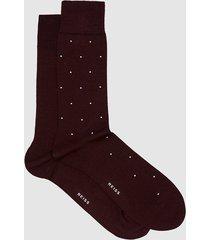 reiss graham - two pack socks in bordeaux, mens