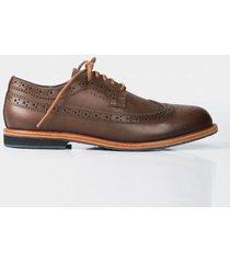zapatos cordón oxford de cuero para hombre perforados