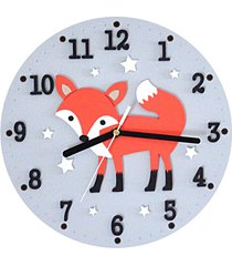 zegar dla dziecka z liskiem