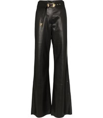 nanushka kisa vegan leather maxi trousers - black