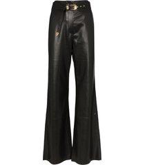 nanushka kisa vegan leather maxi trousers - black