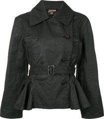 jean paul gaultier pre-owned 1990's belted jacket - black