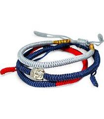 tibetan buddha hand-made triple bracelet set