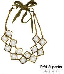 colar la madame co maxi colar bronze - bronze - feminino - dafiti