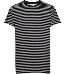 knud t-shirt st 10379 t-shirts short-sleeved grå samsøe & samsøe
