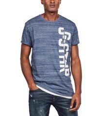 g-star raw men's split logo heathered t-shirt, created for macy's