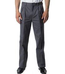 pantalón gabardina pinzado gris oscuro kotting