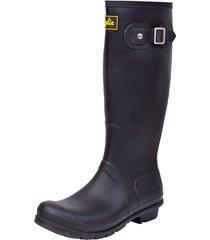 botas de lluvia altas wellington bottplie amarelo - negro matte