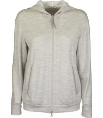 brunello cucinelli light cotton and silk terry sweatshirt with jewels