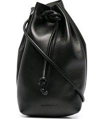 jil sander pouch-style bracelet bag - black