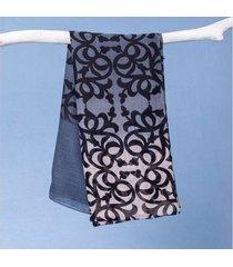 lenço maitê cor: azul - tamanho: único