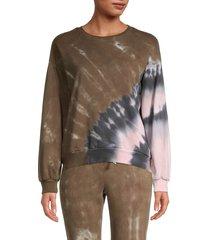 lea & viola women's tie-dye sweatshirt - black - size m