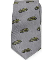 men's cufflinks, inc. millennium falcon silk tie, size regular - grey