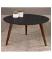 mesa de centro 36x70cm 24601 linha complementos preto pes escuro artesano