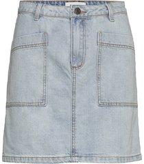 bello vintage blue skirt kort kjol blå modström