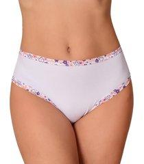 calcinha vip lingerie cintura alta algodão fio 40 branco