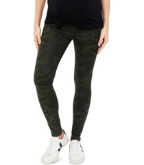 a pea in the pod maternity coated camo skinny jeans