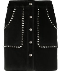 golden goose studded a-line mini skirt - black