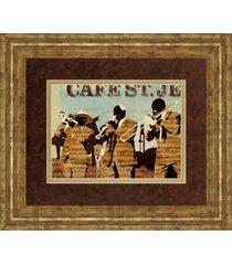 "classy art cafe saint jean by kyle mosher framed print wall art, 34"" x 40"""
