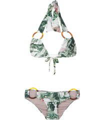 adriana degreas x cult gaia printed bikini set - green