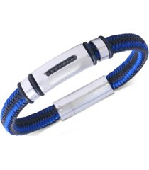 men's diamond nylon cord bracelet (1/10 ct. t.w.)