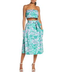 women's lilly pulitzer lenora bandeau top & a-line skirt set
