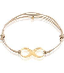 bracciale in oro giallo su cordino per donna