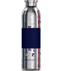 nautica helm double wall sports bottle with silicone sleeve and screw top lid, 20 oz