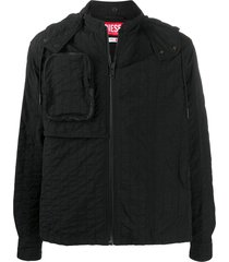 a-cold-wall* relaxed-fit hooded jacket - black
