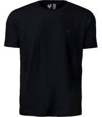 camiseta basic - preto multicolorido - kanui