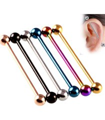 orecchino con perno traforato in acciaio inossidabile multicolor trendy per uomo donna