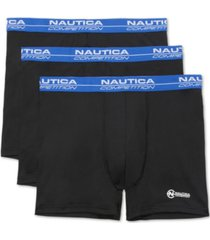 nautica men's 3-pk. mesh performance boxer briefs