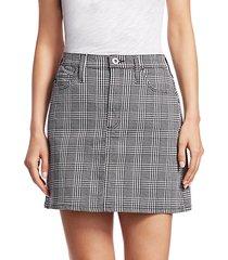 harlo plaid mini skirt