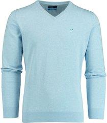 bos bright blue pullover lichtblauw v-hals 20105vi01bo/210 l.blue