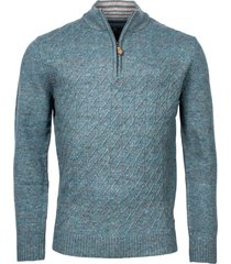 baileys trui ritssluiting licht lamswol cable knit regular fit